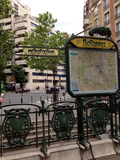 Botzaris metro, Paris