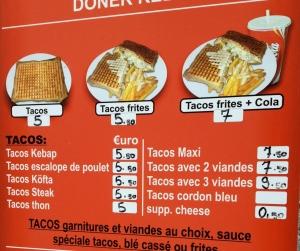 Kebab tacos