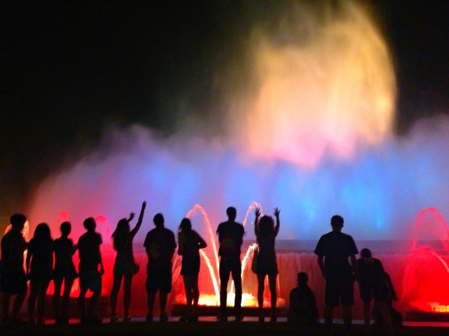 Barcelona fountain silhouette