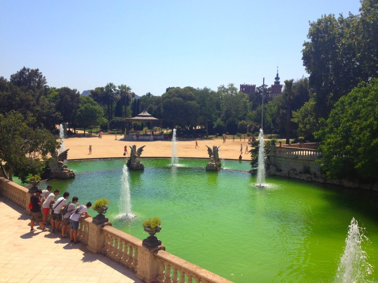 Barcelona green fountain
