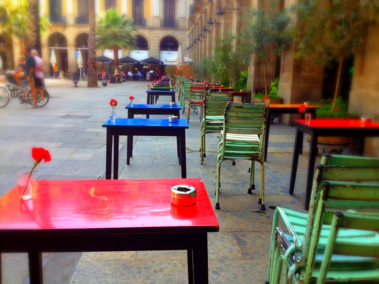 Barcelona outdoor tables