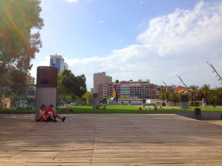 Barcelona park joan miro