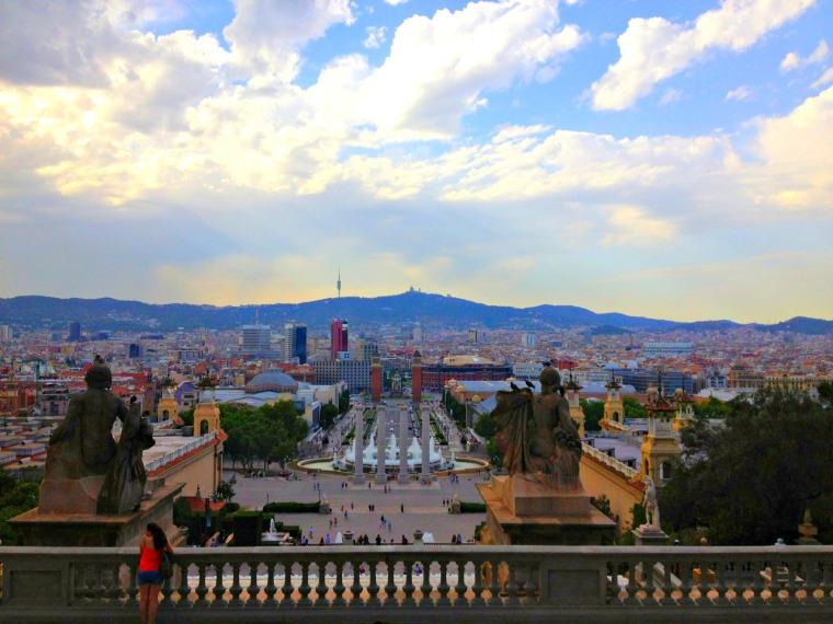 Barcelona view from Montjuic