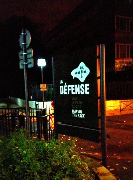 La Defense sign
