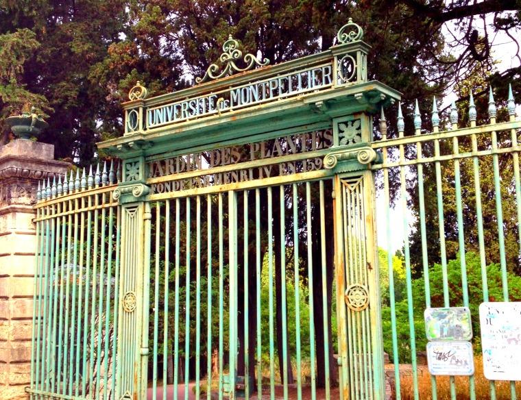 MMontpellier Jardin des plantes gate