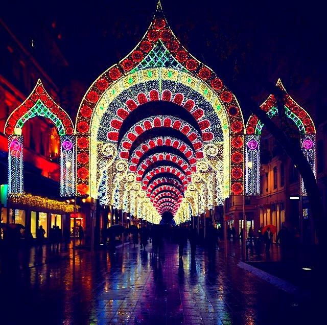 Fete des lumieres Christmas arches