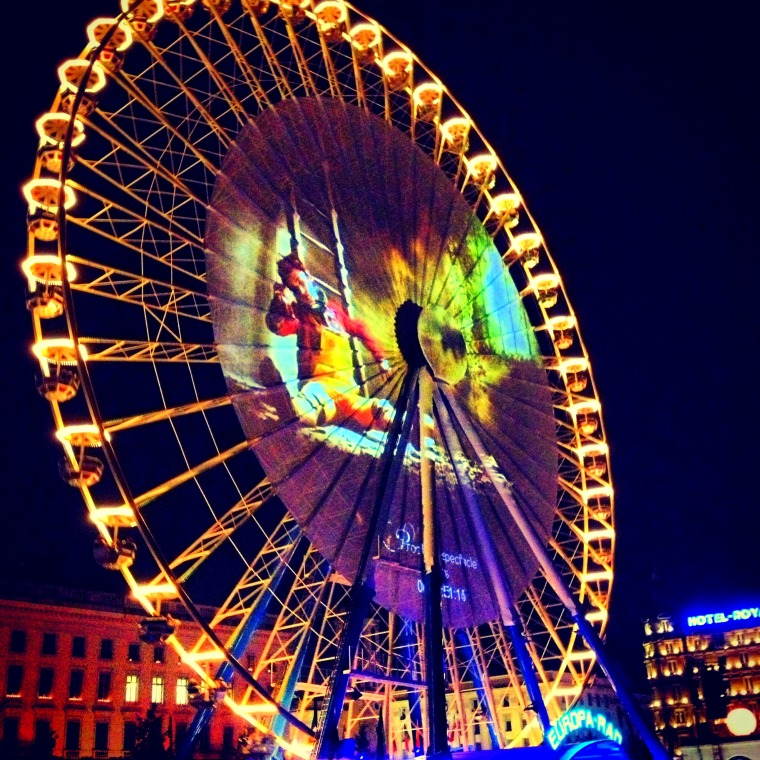 Fete des lumieres place bellecour