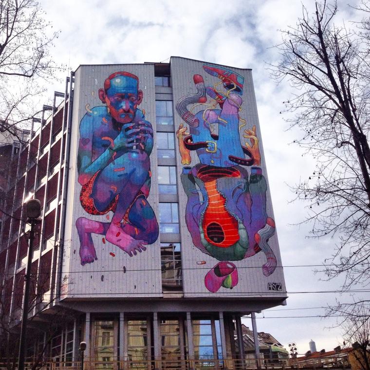 Turin Street art La Vie En C Rose