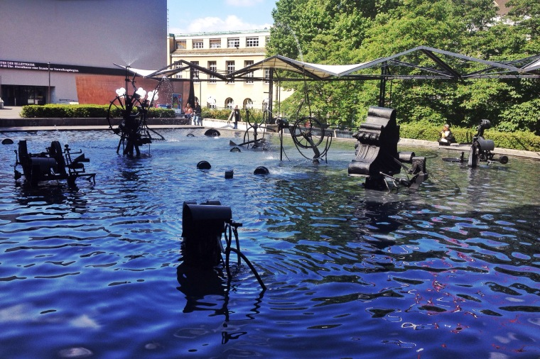 Tinguely fountain Basel La Vie En C Rose