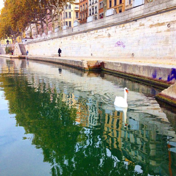 Saône River in Lyon, France